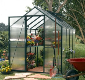 starting a garden - greenhouse
