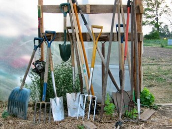 Basic garden equipment tools for gardening for Tools and equipment in planting