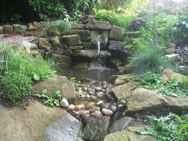 Water garden ideas photos modern home exteriors for Backyard water feature plans