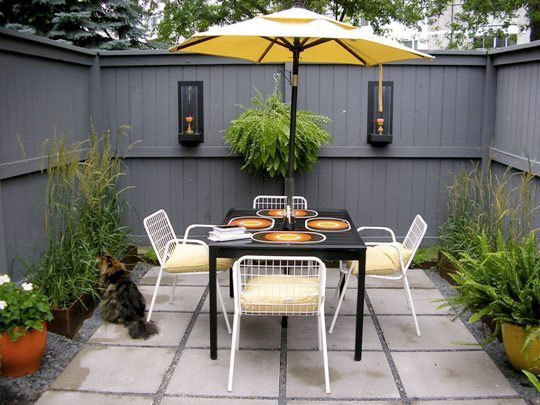 Ideas for courtyard gardens and basement gardens for Very small courtyard ideas