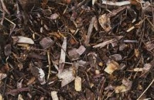 organic mulch - wood bark chippings