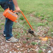 ways to control weeds - flame weeding