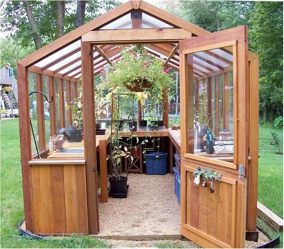 Greenhouse benches and greenhouse shelving for Small wooden greenhouse plans