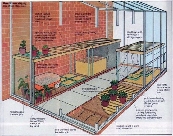 using greenhouse staging